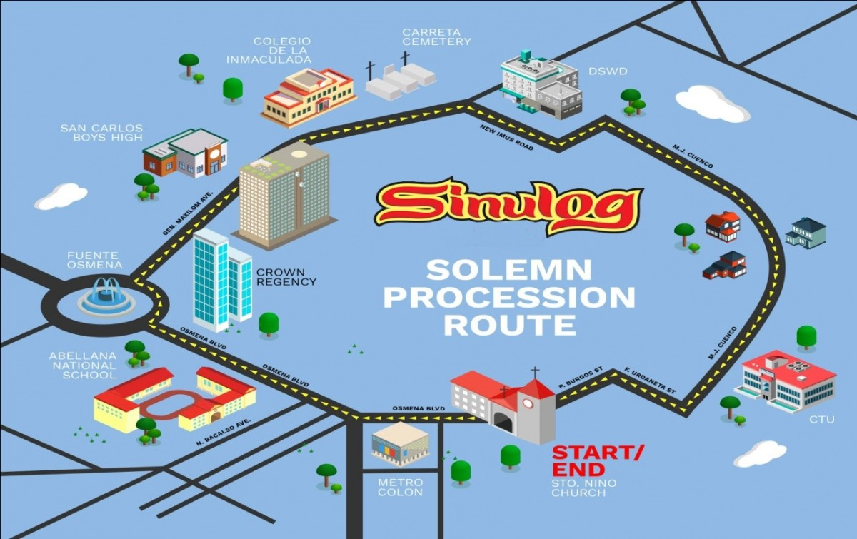 SOLEMN PROCESSION & GRAND PARADE  ROUTE 2019